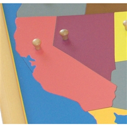 California - Puzzle Piece Of USA (Wood Knob)